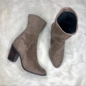 F21 Faux Suede Sock Boots